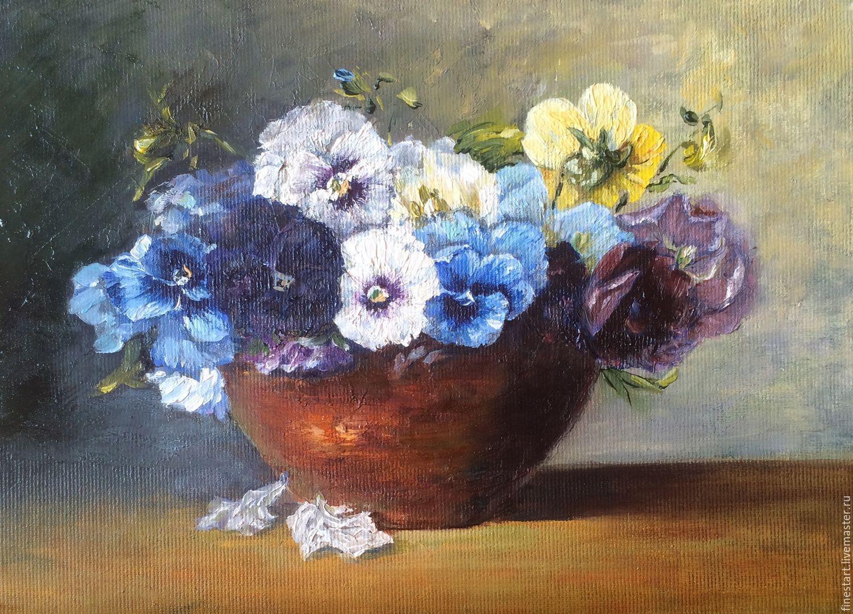 Цветы картина маслом