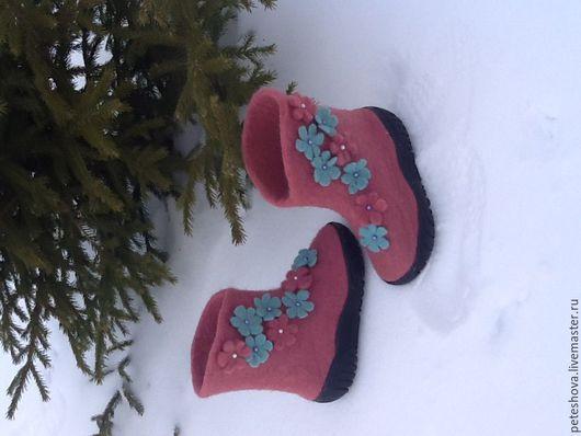 Обувь ручной работы. Ярмарка Мастеров - ручная работа. Купить Детские валенки. Handmade. Розовый, обувь ручной работы