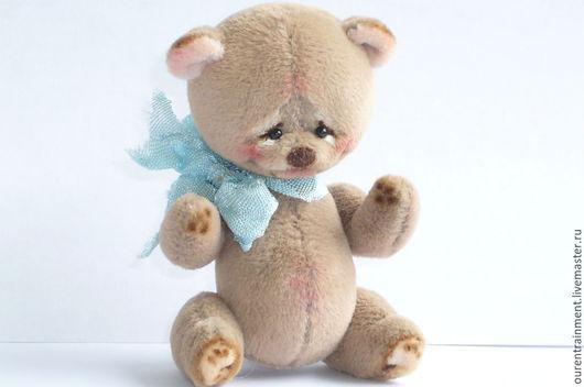 Мишки Тедди ручной работы. Ярмарка Мастеров - ручная работа. Купить Лосек (6 см). Handmade. Бежевый