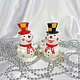 Снеговик из дерева  на ёлку .Ёлочное украшение.Подарок на новый год.Новогодний сувенир. № 4, 5 слева направо.(проданы)