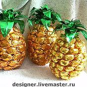 Сувениры и подарки ручной работы. Ярмарка Мастеров - ручная работа Сладкий ананас. Букет из конфет. Handmade.