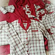 Одежда handmade. Livemaster - original item Pajamas for mom or for dad. From the family set for the whole family.. Handmade.