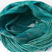 Аксессуары handmade. Livemaster - original item Felted Snood with fringe scarf emerald loop. Handmade.