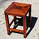 Мебель ручной работы. Ярмарка Мастеров - ручная работа. Купить Табурет из дерева. Handmade. Картина, табурет, сосна, мебель из дерева