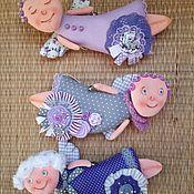 Мягкие игрушки ручной работы. Ярмарка Мастеров - ручная работа Ангел подвеска текстильный.. Handmade.