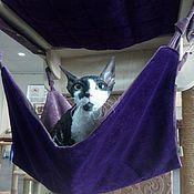Для домашних животных, handmade. Livemaster - original item Hammock for cat on the wall buy. A hammock of fabric for the cat.. Handmade.
