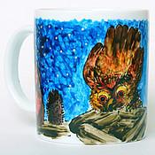 """Посуда ручной работы. Ярмарка Мастеров - ручная работа Чашка """"Ежик в тумане"""" большая. Handmade."""