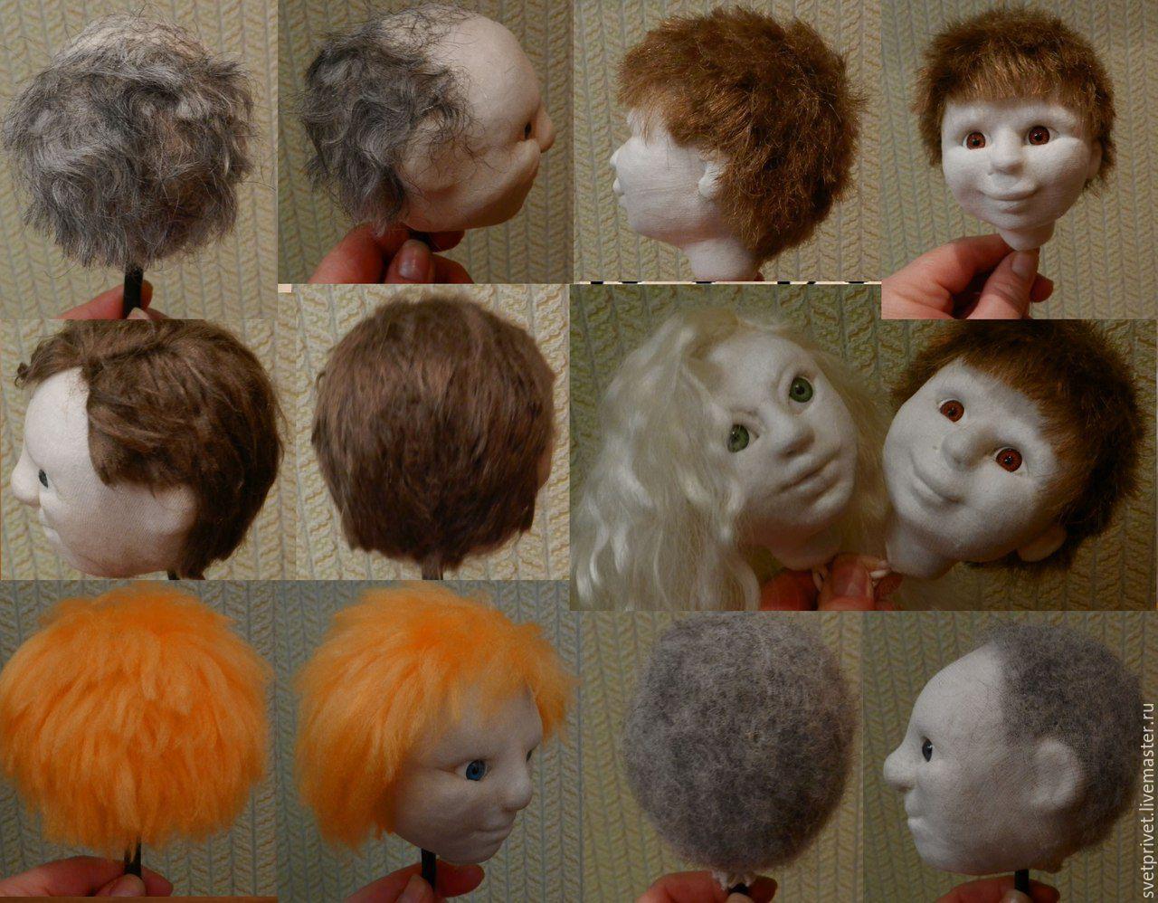 Изготовление прически для кукол