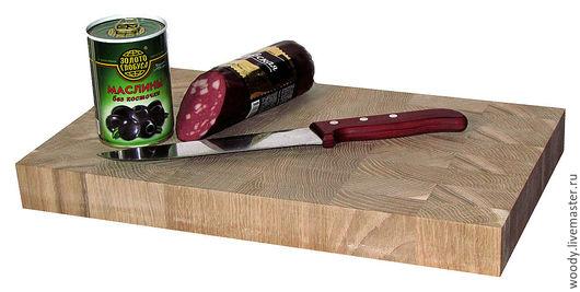 Кухня ручной работы. Ярмарка Мастеров - ручная работа. Купить Торцевая разделочная доска 400х250х40мм - дуб. Handmade. Для кухни