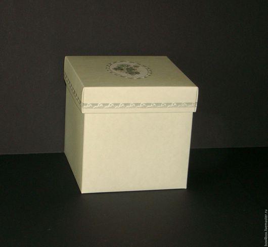 Упаковка ручной работы. Ярмарка Мастеров - ручная работа. Купить Коробки подарочные 14x14x14 cм. Handmade. Оливковый, коробочка, коробка