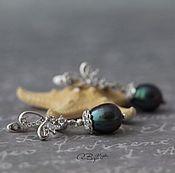 Украшения handmade. Livemaster - original item earrings with natural pearl