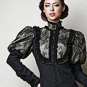 """Одежда ручной работы. Ярмарка Мастеров - ручная работа Блузка """"Барокко"""", шелк и шантильи. Handmade."""