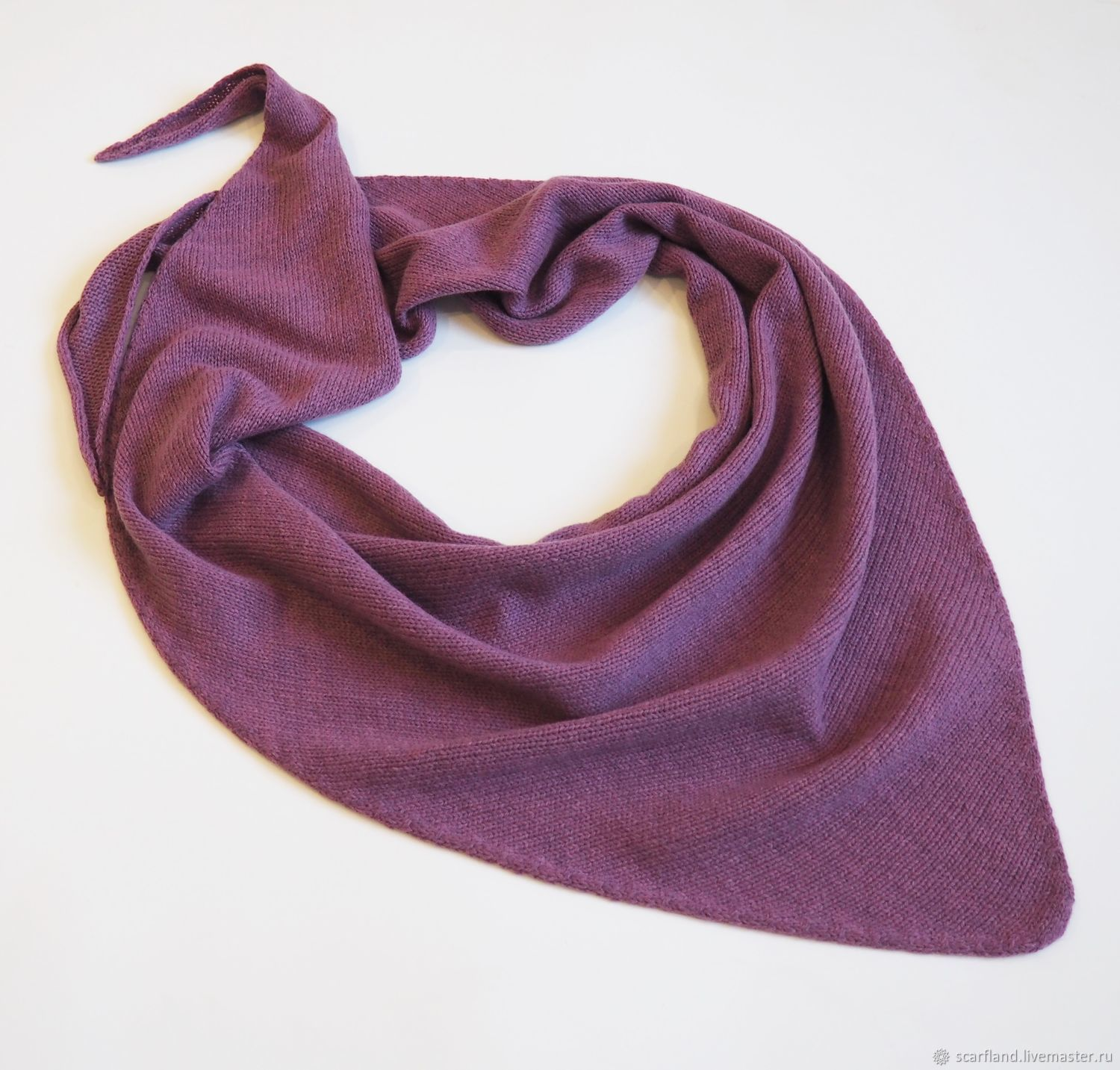 scarves: Warm knitted scarf with cashmere, Kerchiefs, Cheboksary,  Фото №1