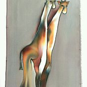 Картины и панно ручной работы. Ярмарка Мастеров - ручная работа Панно Жираф. Handmade.