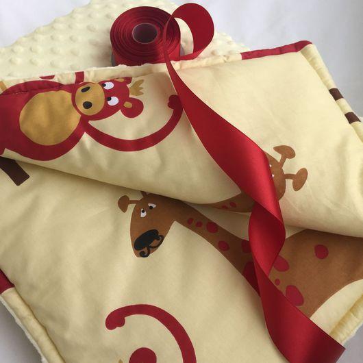Пледы и одеяла ручной работы. Ярмарка Мастеров - ручная работа. Купить Пледик сафари. Handmade. Плед для новорожденного, плед на выписку