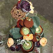 Цветы и флористика ручной работы. Ярмарка Мастеров - ручная работа Кофейная чашка........букет из конфет. Handmade.