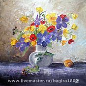 Картины и панно ручной работы. Ярмарка Мастеров - ручная работа Картина Букет весенний. Handmade.