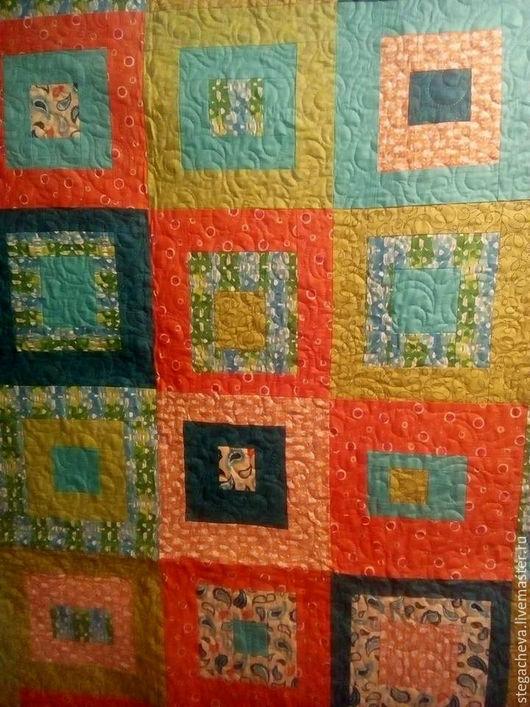 Текстиль, ковры ручной работы. Ярмарка Мастеров - ручная работа. Купить Покрывало в лоскутной технике. Handmade. Лоскутное покрывало