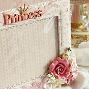 Сувениры и подарки ручной работы. Ярмарка Мастеров - ручная работа Фоторамка для маленькой принцессы. Handmade.