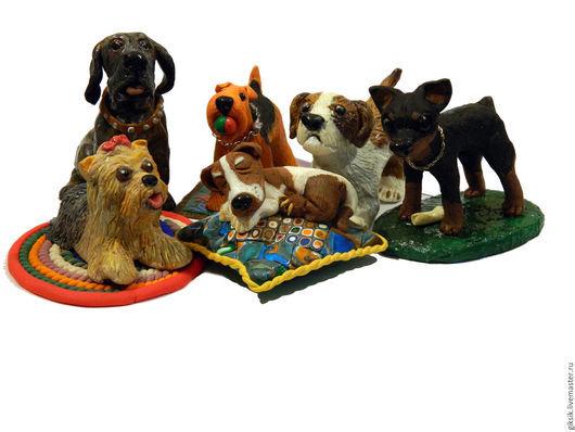 Миниатюрные модели ручной работы. Ярмарка Мастеров - ручная работа. Купить фигурка собаки на заказ. Handmade. Цветовая гамма любая