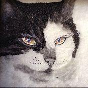 Картины и панно ручной работы. Ярмарка Мастеров - ручная работа Панно котЭ-2. Handmade.