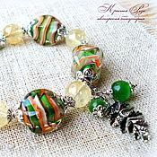 """Украшения ручной работы. Ярмарка Мастеров - ручная работа Браслет """"Зелёный лес"""". Handmade."""