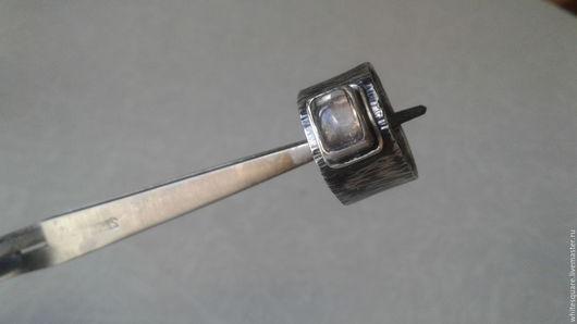 Кольца ручной работы. Ярмарка Мастеров - ручная работа. Купить кольцо с турмалином. Handmade. Бежевый, квадратный камень, турмалин натуральный