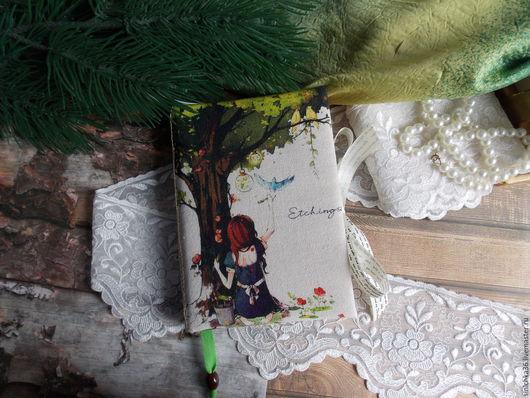 """Блокноты ручной работы. Ярмарка Мастеров - ручная работа. Купить Блокнот""""Я нарисую этот мир"""". Handmade. Комбинированный, блокнот для девушки, брадс"""