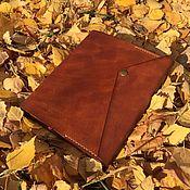 Ежедневники ручной работы. Ярмарка Мастеров - ручная работа Ежедневник А5 табачно-коричневый. Handmade.