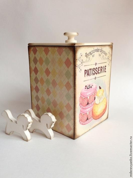 """Кухня ручной работы. Ярмарка Мастеров - ручная работа. Купить Короб """"Patisserie"""". Handmade. Кремовый, короб для кухни, декупаж короба"""