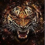 """Четки ручной работы. Ярмарка Мастеров - ручная работа Четки""""Глаз тигра"""". Handmade."""