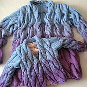 Одежда handmade. Livemaster - original item Cardigan with a gradient of 1+1 family onions. Handmade.