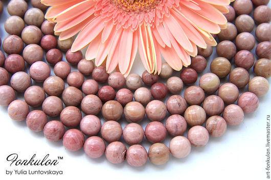 Для украшений ручной работы. Ярмарка Мастеров - ручная работа. Купить Родонит Розовый бусины 8мм, 10мм, 12мм Гладкий. Handmade.