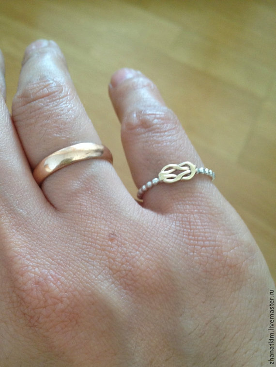 Silver ring love Knot, Rings, Almaty,  Фото №1