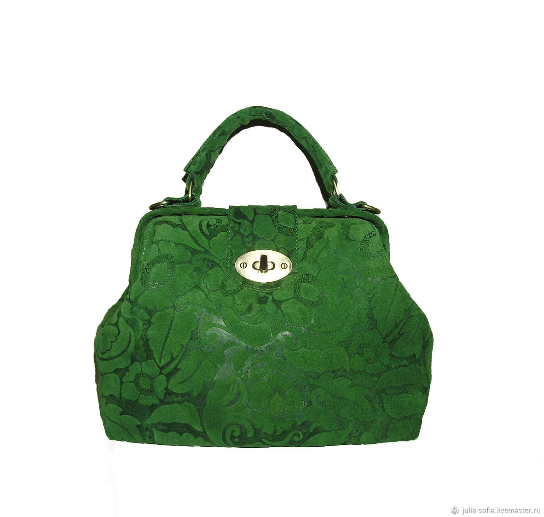 39e6059dff6e Женские сумки ручной работы. Ярмарка Мастеров - ручная работа. Купить  Женская сумка Зеленый саквояж ...