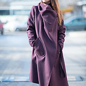 Одежда handmade. Livemaster - original item Coat, Women`s coat, Fashion coat, Coat Marsala, Clothing EUG. Handmade.