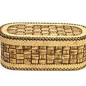 handmade. Livemaster - original item Bread braided birch bark. Big box. For food storage. Handmade.