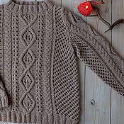 Jumpers handmade. Livemaster - original item Jumper female knitted dream Catcher. Handmade.