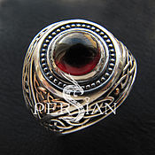 Украшения handmade. Livemaster - original item Men`s ring silver all Seeing eye. Handmade.