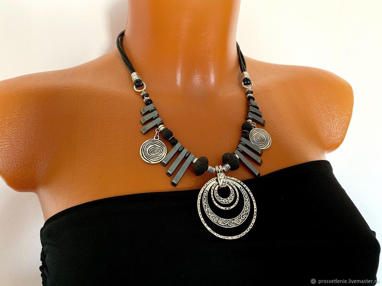 Necklace stylish, boho decoration, original pendant, fashion necklace metal, Necklace, Voronezh,  Фото №1