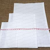 Материалы для творчества ручной работы. Ярмарка Мастеров - ручная работа Мешочки льняные белые (частое плетение). Handmade.