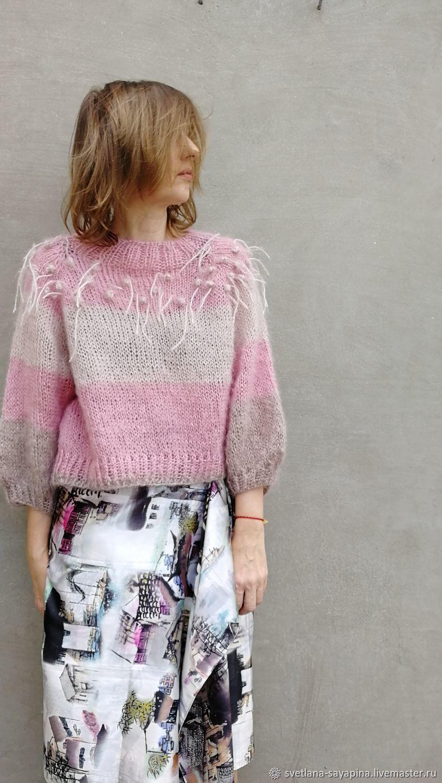 Pink mohair sweater, Sweaters, Krymsk,  Фото №1