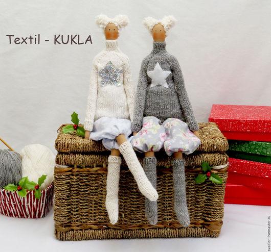 Куклы Тильды ручной работы. Ярмарка Мастеров - ручная работа. Купить Winter Joy - куклы тильда. Handmade. Комбинированный