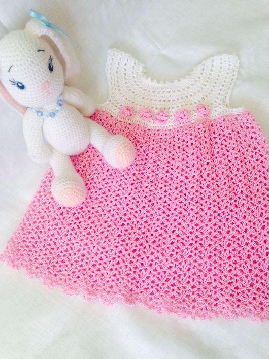 Для новорожденных, ручной работы. Ярмарка Мастеров - ручная работа. Купить Комплект из платья и пинеток Маленькая леди. Handmade.
