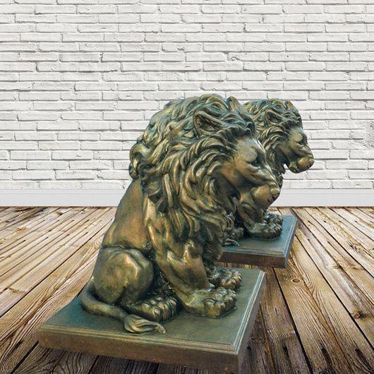 Экстерьер и дача ручной работы. Ярмарка Мастеров - ручная работа. Купить Скульптура льва. Handmade. Лев, статуя, подарок, для сада