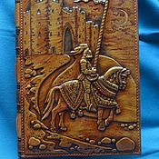 "Канцелярские товары handmade. Livemaster - original item Leather notebook ""IVANHOE"". Handmade."