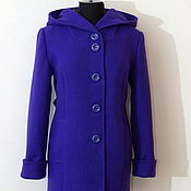 Одежда handmade. Livemaster - original item Autumn coat Persian blue.. Handmade.