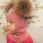 """Работы для детей, ручной работы. Ярмарка Мастеров - ручная работа Шлемик """"Розовый снегопад"""". Handmade."""