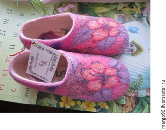 Обувь ручной работы. Ярмарка Мастеров - ручная работа. Handmade. Купить тапочки Цветочный аромат
