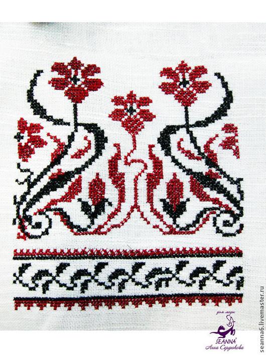 Одежда ручной работы. Ярмарка Мастеров - ручная работа. Купить Вышивка штор в русском стиле крестиком, также на любой одежде. Handmade.